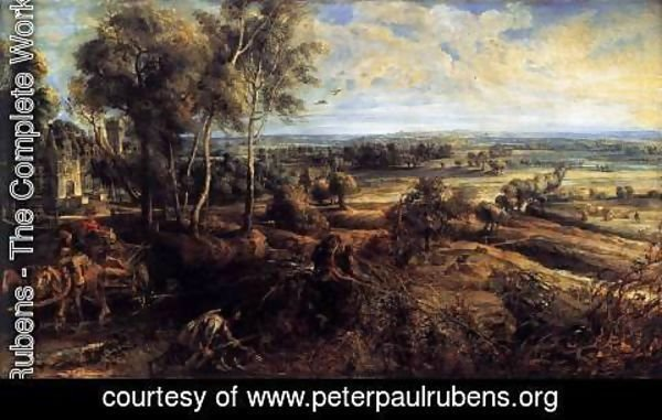 Rubens - An Autumn Landscape with a View of Het Steen c. 1635