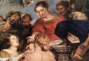 Rubens - Assumption of the Virgin (detail-2) 1626