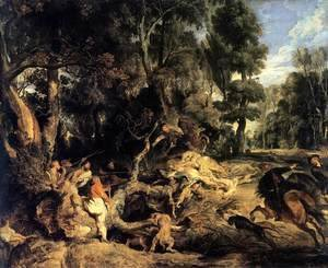 Rubens - Boar Hunt 1615-20