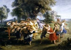 Dance of Italian Villagers c. 1636