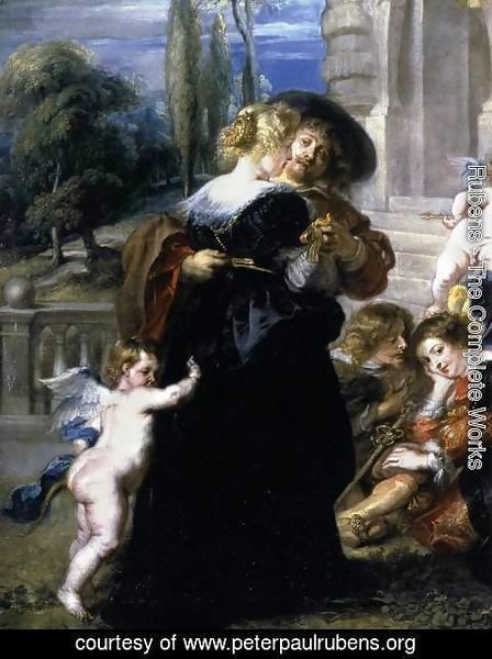 Rubens - Garden of Love (detail) c. 1633