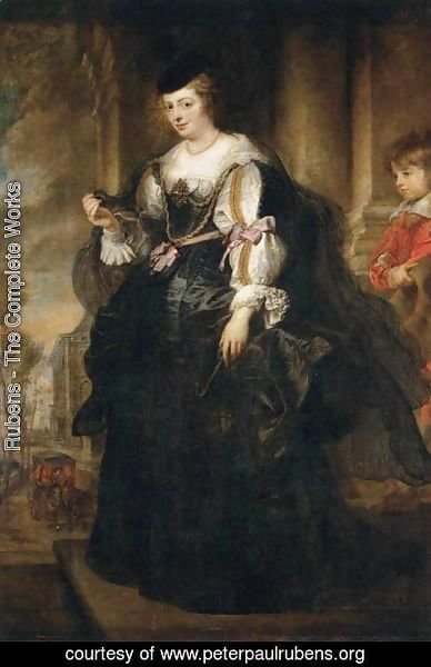 Rubens - Helena Fourment with a Carriage 1639
