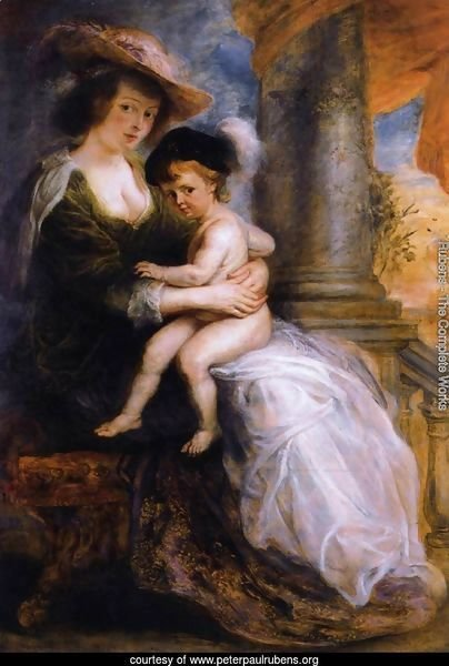 Helena Fourment with her Son Francis 1635