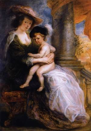 Rubens - Helena Fourment with her Son Francis 1635