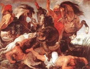 Rubens - Hippopotamus and Crocodile Hunt 1615-16