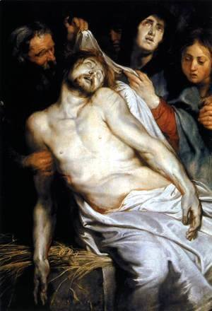 Rubens - Lamentation (Christ on the Straw) 1617-18