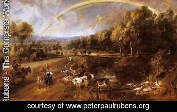Rubens - Landscape with a Rainbow c. 1638