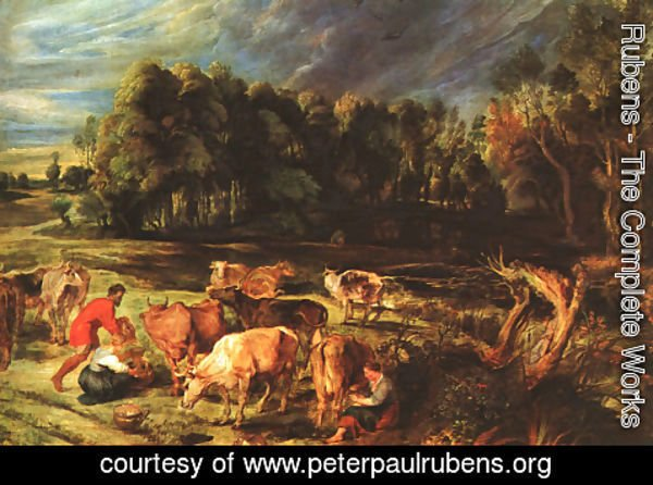 Rubens - Landscape with Cows c. 1636