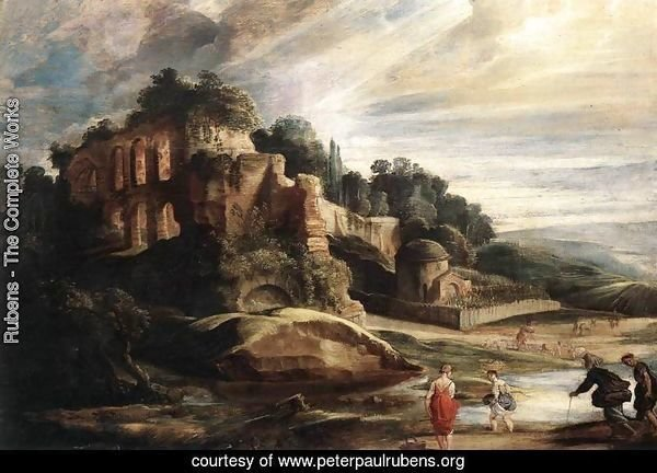 Landscape with the Ruins of Mount Palatine in Rome c. 1608