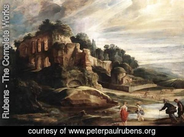 Rubens - Landscape with the Ruins of Mount Palatine in Rome c. 1608