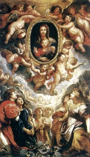 Rubens - Madonna Adored by Angels (Madonna della Vallicella) 1608