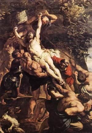 Rubens - Raising of the Cross (detail-1) 1610