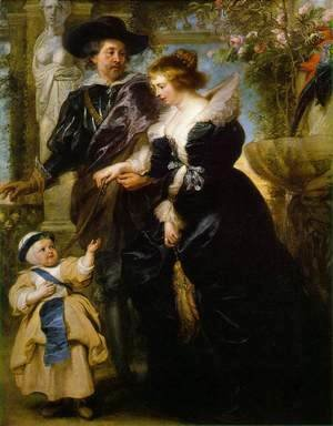 Rubens, his wife Helena Fourment, and their son Peter Paul c. 1639