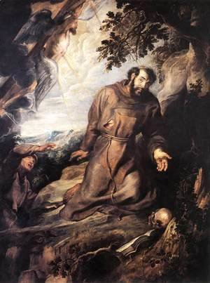 Rubens - St Francis of Assisi Receiving the Stigmata c. 1635