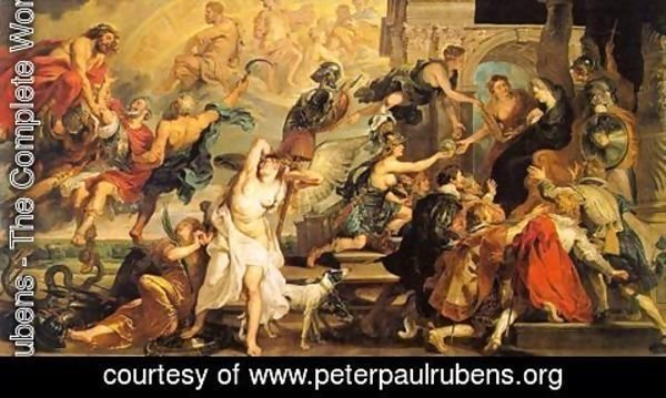 Rubens - The Apotheosis of Henry IV and the Proclamation of the Regency of Marie de Medicis on May 14, 1610,  1623-25