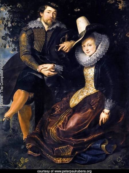 The Artist and His First Wife, Isabella Brant, in the Honeysuckle Bower 1609-10
