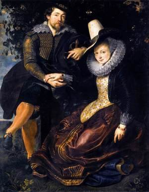 Rubens - The Artist and His First Wife, Isabella Brant, in the Honeysuckle Bower 1609-10
