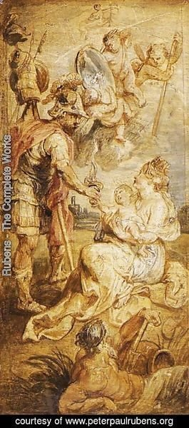 Rubens - The Birth of Henri IV of France 1628-30