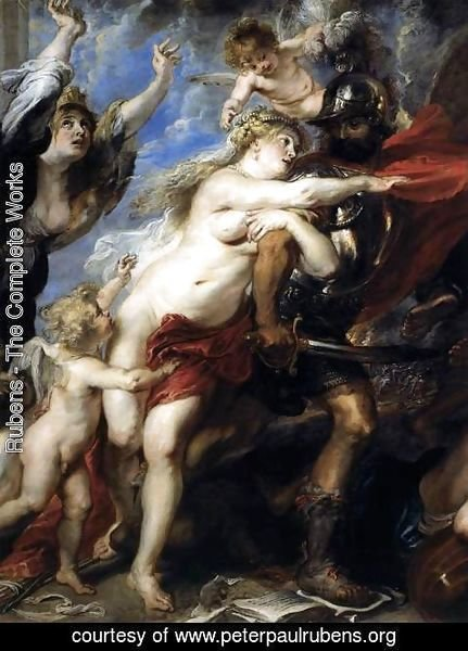 Rubens - The Consequences of War (detail) 1637-38