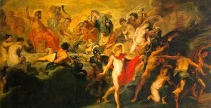 Rubens - The Council of the Gods, 1622-24
