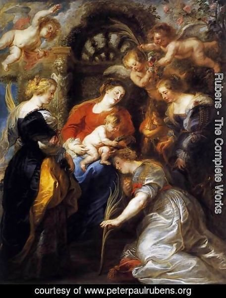 Rubens - The Crowning of St Catherine 1631