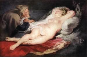 Rubens - The Hermit and the Sleeping Angelica 1626-28