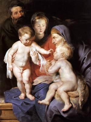 Rubens - The Holy Family with Sts Elizabeth and John the Baptist c. 1614