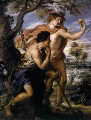 Rubens - The Judgment of Paris (detail) c. 1639