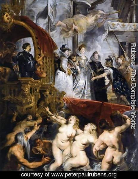 Rubens - The Landing of Marie de Medicis at Marseilles 1623-25