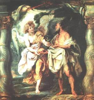 Rubens - The Prophet Elijah Receiving Bread and Water from an Angel 1625-28