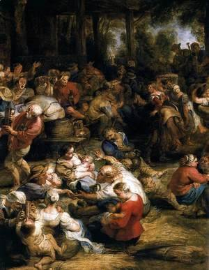 Rubens - The Village Fete (detail) 1635-38