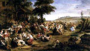 Rubens - The Village Fete (Flemish Kermis) 1635-38