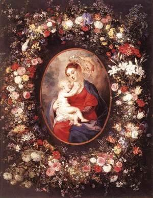 Rubens - The Virgin and Child in a Garland of Flower 1621