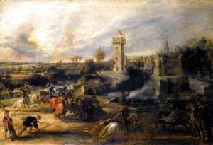 Rubens - Tournament in front of Castle Steen 1635-37