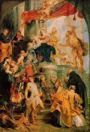 Rubens - Virgin and Child Enthroned with Saints c. 1628