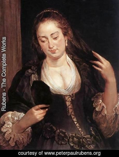 Rubens - Woman with a Mirror c. 1640