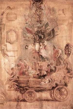 Rubens - The Triumphal Car of Kallo (sketch)