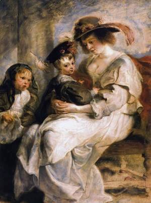 Helene Fourment With Two Of Her Children, Claire-Jeanne And Francois