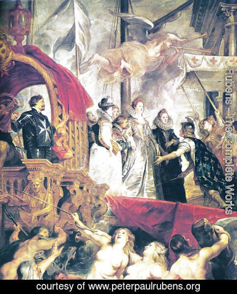 Rubens - Arrival of Maria of Medici and Henry to Lyon