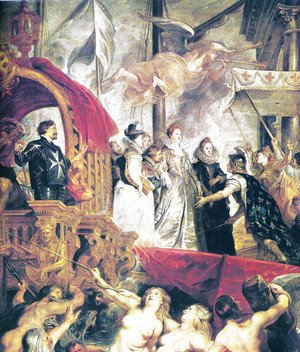 Arrival of Maria of Medici and Henry to Lyon