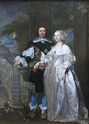 Rubens - Lord Cavendish with His Wife Margaret in the Garden of Rubens in Antwerp