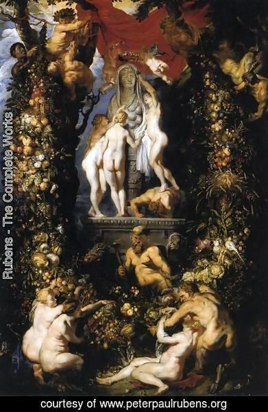 Rubens - Nature Adorning the Three Graces 2