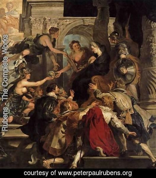 Rubens - The Apotheosis of Henry IV and the Proclamation of the Regency of Marie de Medic
