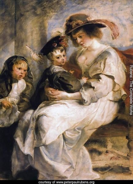 Helena Fourment with her Children, Clara, Johanna and Frans