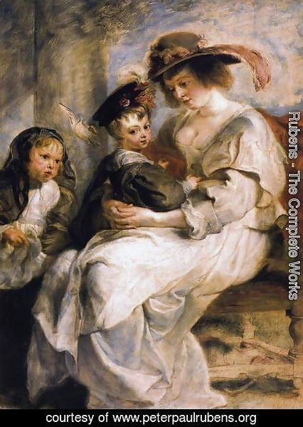 Rubens - Helena Fourment with her Children, Clara, Johanna and Frans