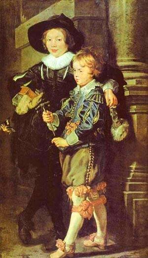 Rubens - Artists Sons Albert And Nicholas 1624-1625