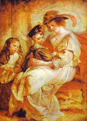Helene Fourment With Her Children 1635
