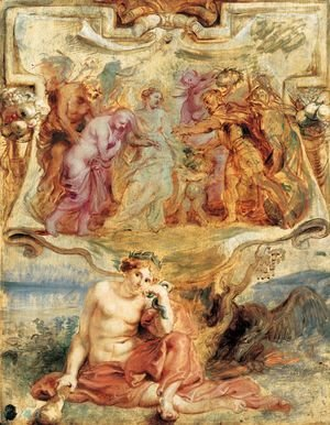 Rubens - Henry IV seizes the Opportunity to conclude Piece 1628