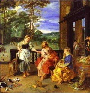 Rubens - Jan Bruegel-The Younger And Peter Paul Rubens Christ In The House Of Martha And Mary 1628 2