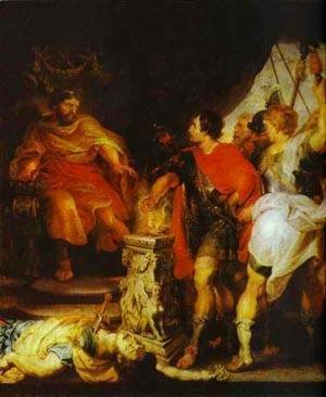 Rubens - Peter Paul Rubens And Anthony Van Dyck Mucius Scaevola Before Porsenna 1620